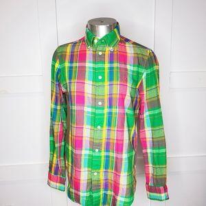 Ralph Lauren Spring Plaid Pink Button Down Shirt 6